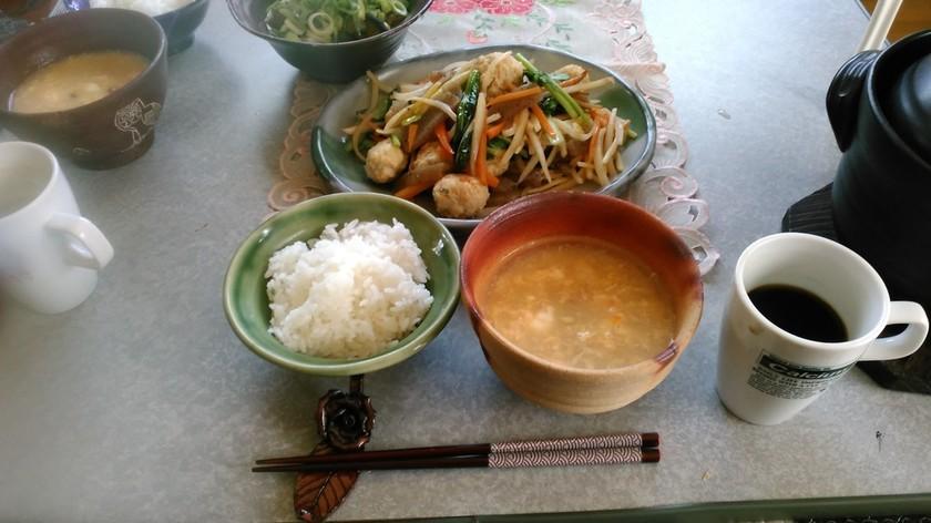 玉子納豆の味噌汁