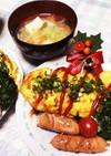 オムライスと中華スープ