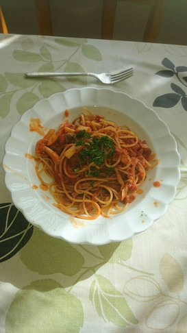 ツナときのこのスパゲッティ