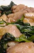 鶏とほうれん草のオニオンソテー
