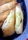 キャベツとササミとチーズの簡単春巻き☆