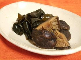 干し椎茸と昆布の煮物