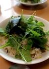 しらすと塩昆布のサラダ炒飯