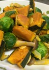 芽キャベツとかぼちゃのガーリックソテー