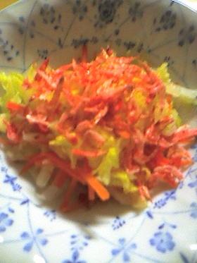 白菜と人参の中華風サラダ