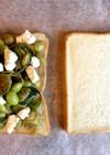 枝豆と芽キャベツのサンドイッチ