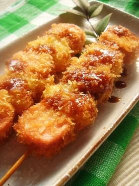魚肉&玉ねぎのヘルシー串揚げ♪