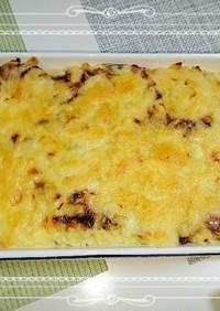 海苔の佃煮とマッシュポテトのチーズ焼♡