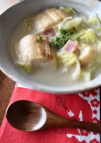 つかれた胃に優しい♪キャベツと麩のスープ