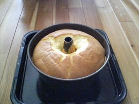 プレーンなシフォンケーキ