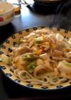 豆腐と白菜のあんかけうどんエスニック風!