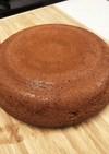 炊飯器で焼くチョコスポンジ