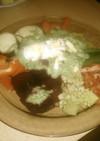 グリーンソースと温野菜