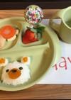 離乳食 お誕生日プレート