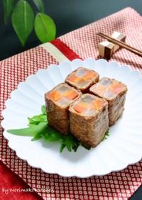 お節料理☆牛肉の紅白巻き