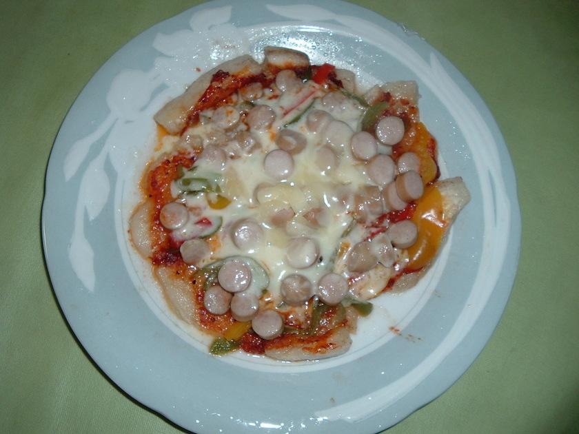 鏡餅で☆もちピザ