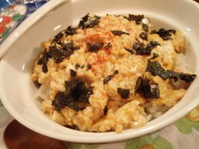 豆腐と卵のふわふわ丼