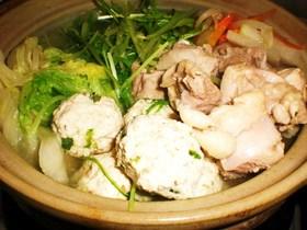 めちゃうま!鶏と豚肉とたっぷり野菜の塩鍋