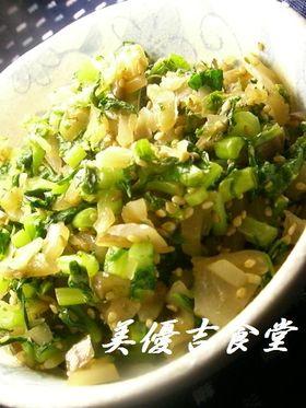 ザーサイと大根葉の炒め物