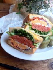 チーズエッグトーストサンドの写真