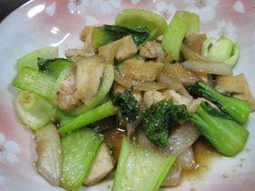鶏とチンゲンサイの中華炒め