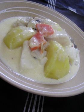 たらとじゃが芋のフリカッセ~牛乳&白味噌