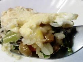 納豆&大根葉飯の卵チーズ乗せ