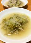 豚肉と白菜もやし玉葱のコンソメスープ