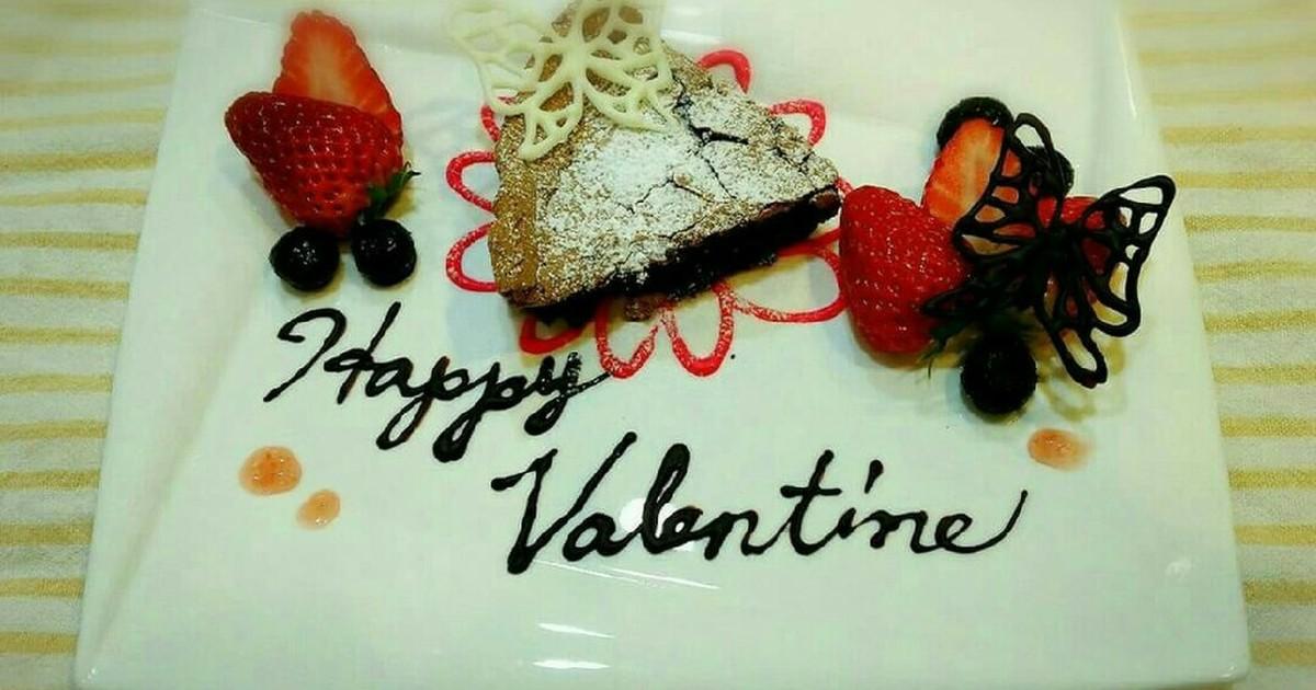 ガトーショコラ バレンタインプレート by さくさきら 【クックパッド】 簡単おいしいみんなのレシピが306万品