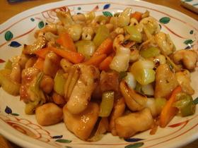 鶏肉とナッツの中華風炒め