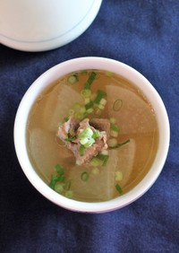 ★牛肉の大根スープ(소고기 무국)。