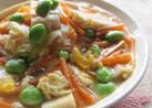 高野豆腐と人参の玉子とじ