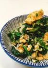 10分で副菜!ほうれん草と卵のサラダ