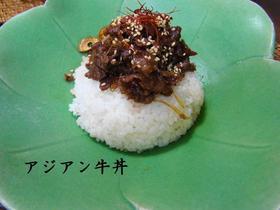 アジアン牛丼
