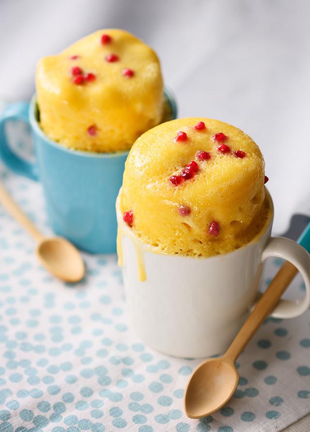 いちご粒ジャムマグカップケーキ