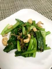 小松菜の炒めものの写真