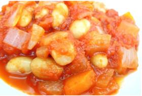 大豆と玉ねぎのトマト煮