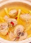鶏と細竹の子のピリ辛スープ鍋