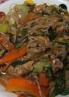 残り野菜で中華炒め