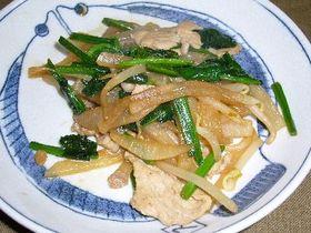 大根と青菜のオイスターソース炒め