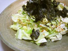 簡単♪キャベツの焼き海苔サラダ