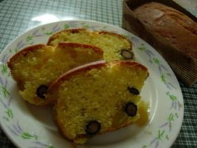 黒豆と栗入りパウンドケーキ