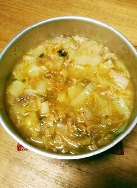 体ほかほか!白菜と豚のこくうま生姜鍋