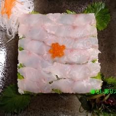 ツヤツヤ☆白身魚のデコレーション寿司♪