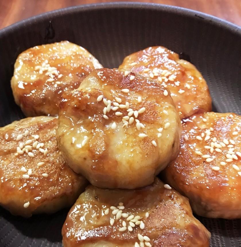 サクとろっ♡長芋の豚肉まきまきの照り焼き