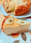 本みりんでキャラメルバナナチーズケーキ