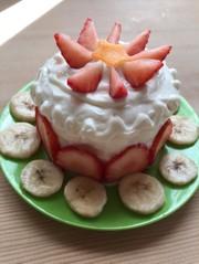 食パンでヨーグルトケーキ〜1歳の誕生日♡の写真