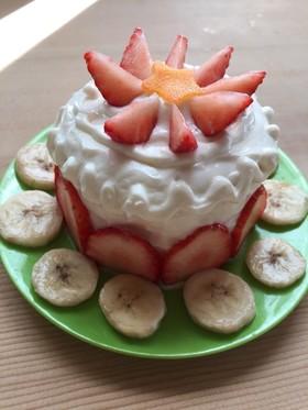 食パンでヨーグルトケーキ〜1歳の誕生日♡