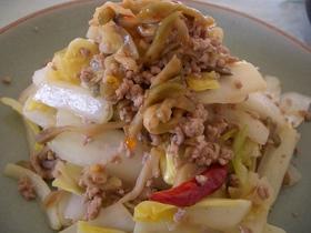 白菜とザーサイ炒め