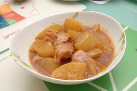 大根と鶏肉の韓国風煮込み